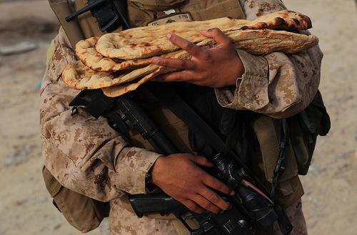 Marines Kill flatbread, roti leper