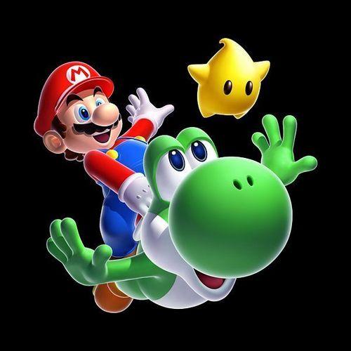 Mario,Yoshi and Luma