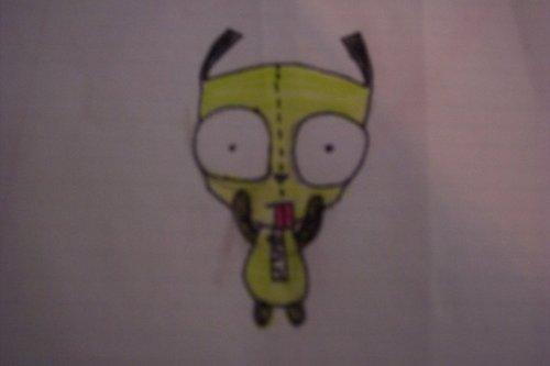 My first shot at drawing Gir.....