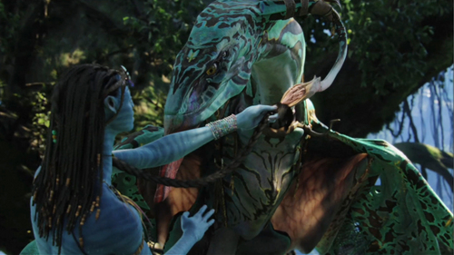 Neytiri making the bound with her Ikran
