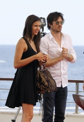 Nina & Ian doing an interview outside at the Monte Carlo Television Festival