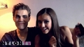 Nina and Paul- Behind the Scenes of the Nylon Photoshoot - paul-wesley-and-nina-dobrev screencap