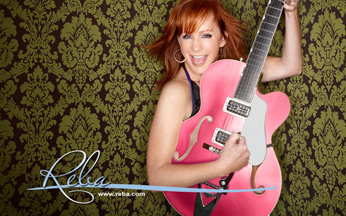 розовый гитара