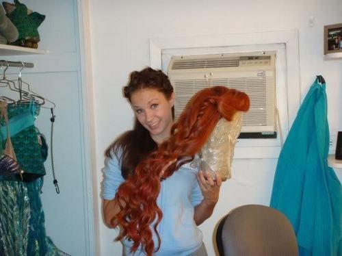 Sierra, Ariel costume+wig