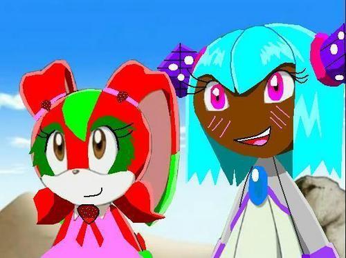 Suzy the rabbit and Kima the Crystal