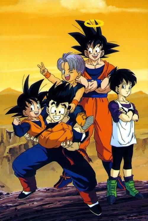 Goten The Son Family And Trunks