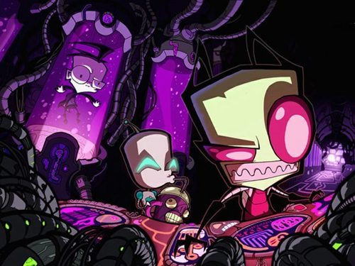 Zim Traps Dib While GIR Just Stands There