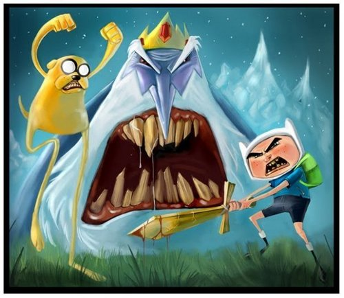 Adventure Time With Finn and Jake wallpaper entitled adventure time...