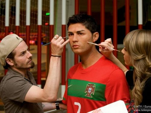 cristiano ronaldo statue at Madame Tussaud's Museum in 런던