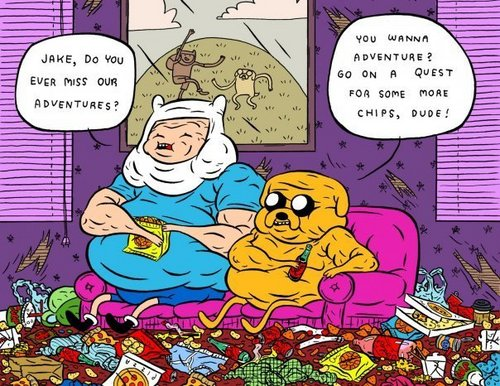 jake and finn, the fun is gone because, THERE FAT...