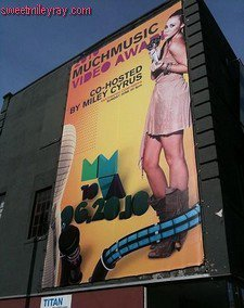 miley cyrus host poster much musik video awards