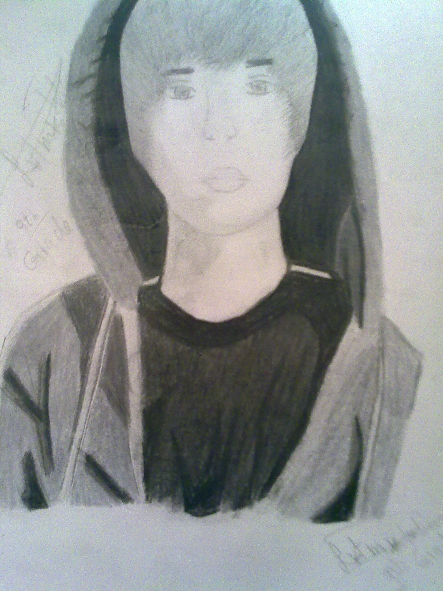 my completed drawing of jb