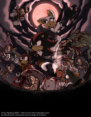 Shadow The Hedgehog kertas dinding entitled zombies