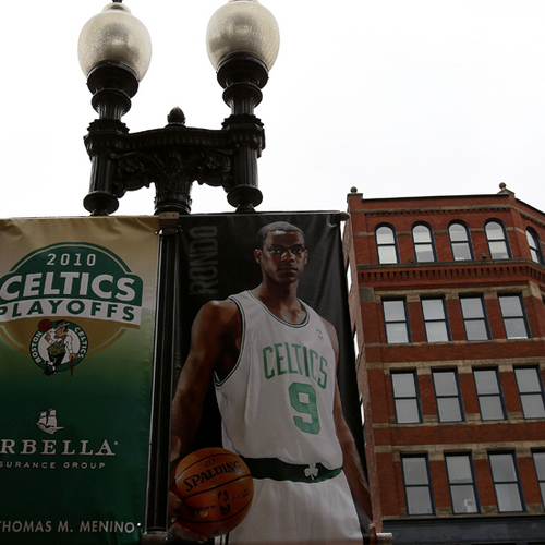 :)- Rondo poster hanging on Boston building :P