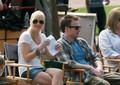 Chris on the set of