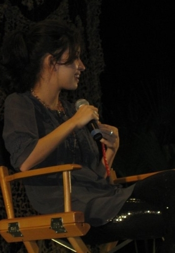 Christian Serratos achtergrond called Christian at the Twi Tour