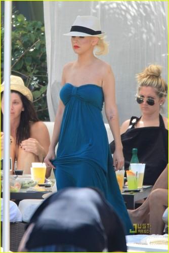 Christina & Kim out in Miami