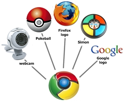 Chrome Logo Elements