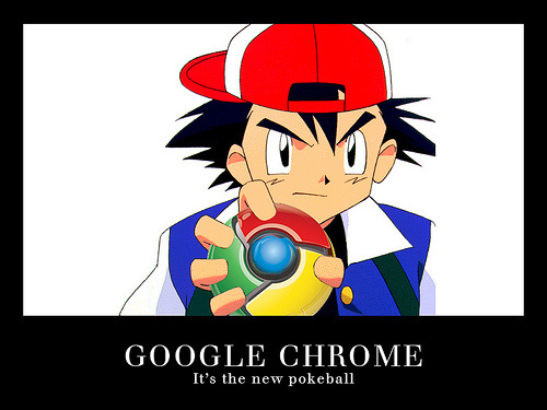 गूगल Chrome वॉलपेपर entitled Chrome: The New Pokeball