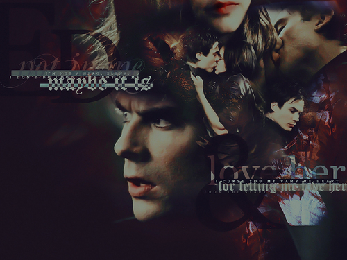 Damon&Elena and Ian&Nina wallpaper titled Damon and Elena