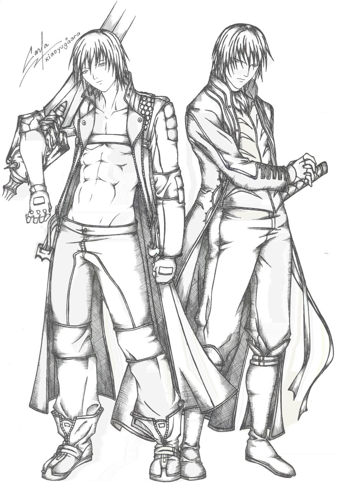 devil may cry coloring pages - photo#36