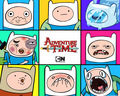Finn Faces - adventure-time-with-finn-and-jake wallpaper