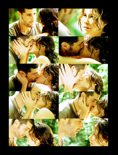 Jack and Kate wallpaper titled First kiss♥