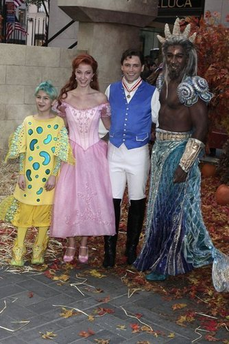 Flounder,Ariel,Eric and Triton