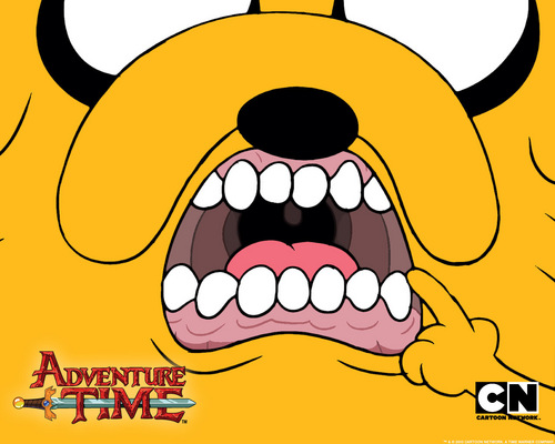 Adventure Time With Finn and Jake wallpaper called Jake Mouth