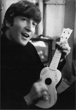 John with ukulele