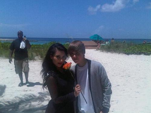 Justin Bieber With Kim Kardashian
