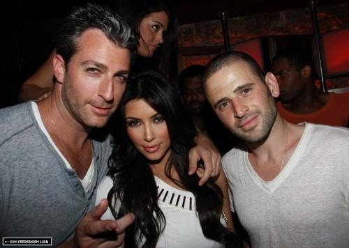 Kim attends Mark Birnbaum & Eugene Remm's Birthday Party