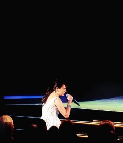 "Lea performing ""Don't Rain on my Parade"" @ the 64th Annual Tony Awards <3"