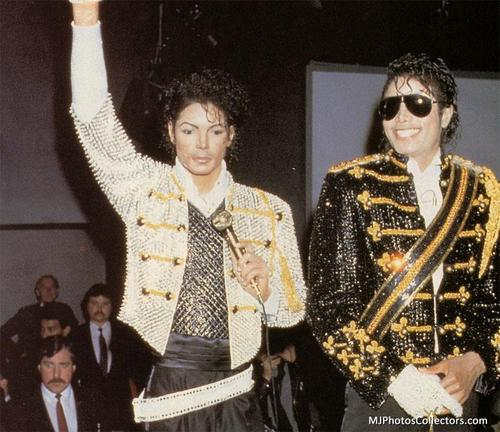 MJ @ Madame Tussauds in 1985