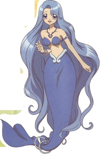 Pichi Pichi Pitch-mermaid melody karatasi la kupamba ukuta entitled Nole blue mermaid princess