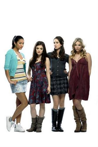 Pretty Little Liars TV دکھائیں پیپر وال entitled Pretty Little Liars ~ Cast
