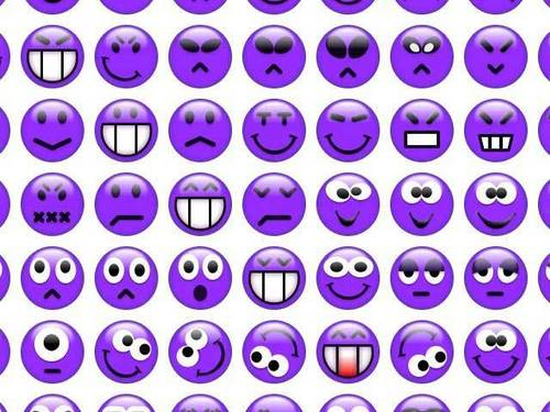Purple Smiley Faces
