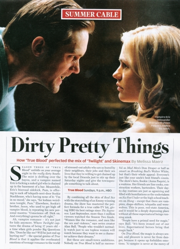 rolling stone true blood poster. Rolling Stone Magazine Scan