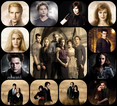 The Cullens দেওয়ালপত্র titled The Cullen Family