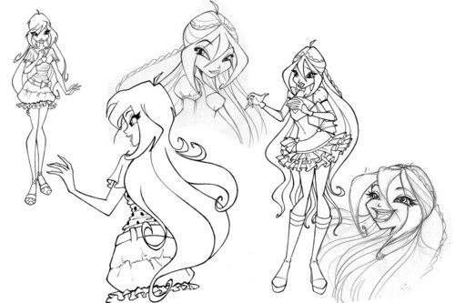 Winx Club Sketches