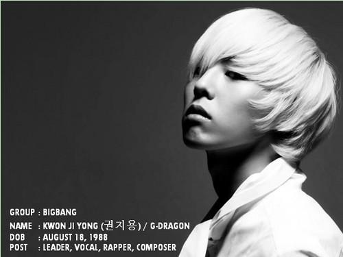 bigbang member ! G-dragon x)