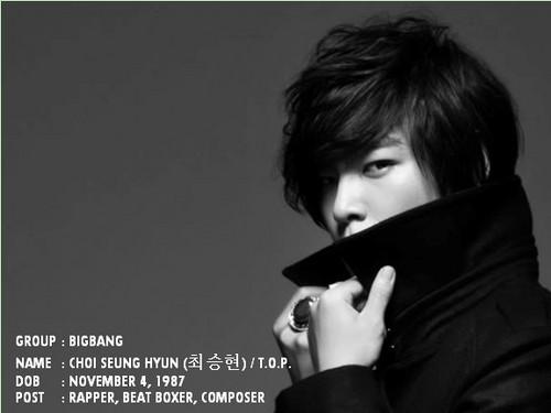 bigbang member ! T.O.P x)