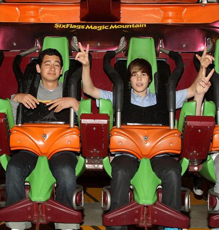 justin on a rollercoaster