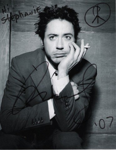 my Robert Downey Jr. autograph :D