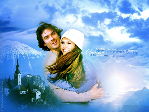 Ian Somerhalder and Nina Dobrev wallpaper entitled nian <3