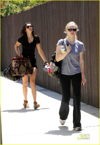 Amanda Seyfried and Nina Dobrev leaving a gym in LA 6/14/10