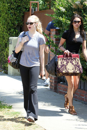 Amanda Seyfried and Nina Dobrev leaving a gym in West Hollywood (June 15)