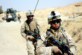 Amphibious Assault Marines Patrol In Iraq