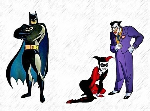 dustfingerlover Hintergrund called Batman, The Joker, and Harley Quinn