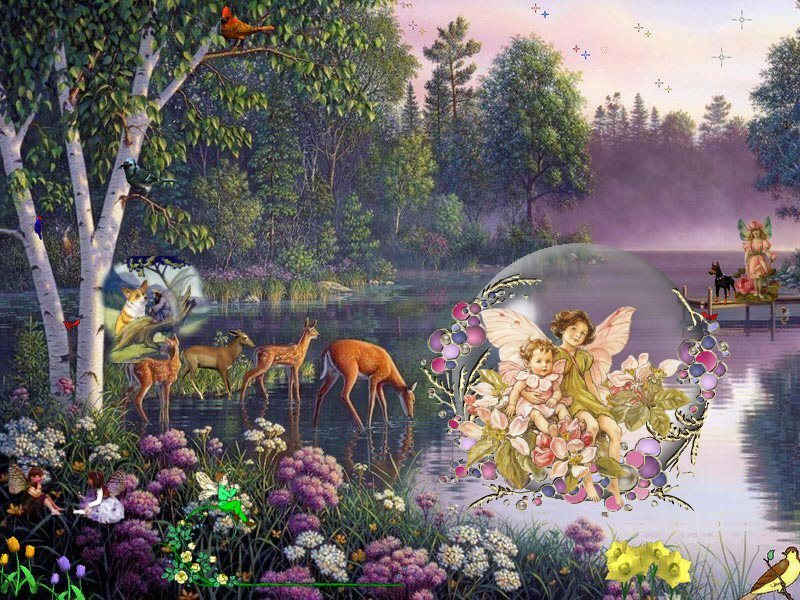 Beatiful Entrancing Of Beautiful Fairies Photo